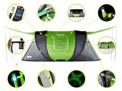 Самораскрывающаяся палатка с солнечной батареей